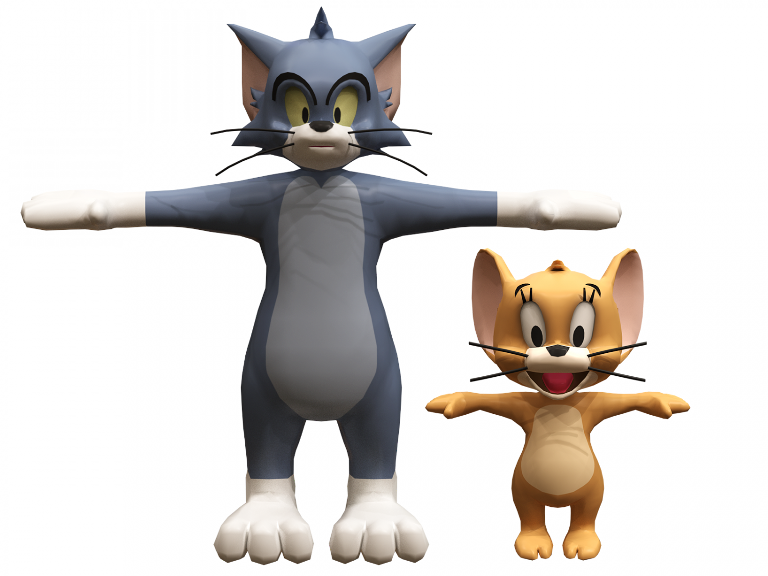 Tom and jerry 3D Model in Cartoon 3DExport.