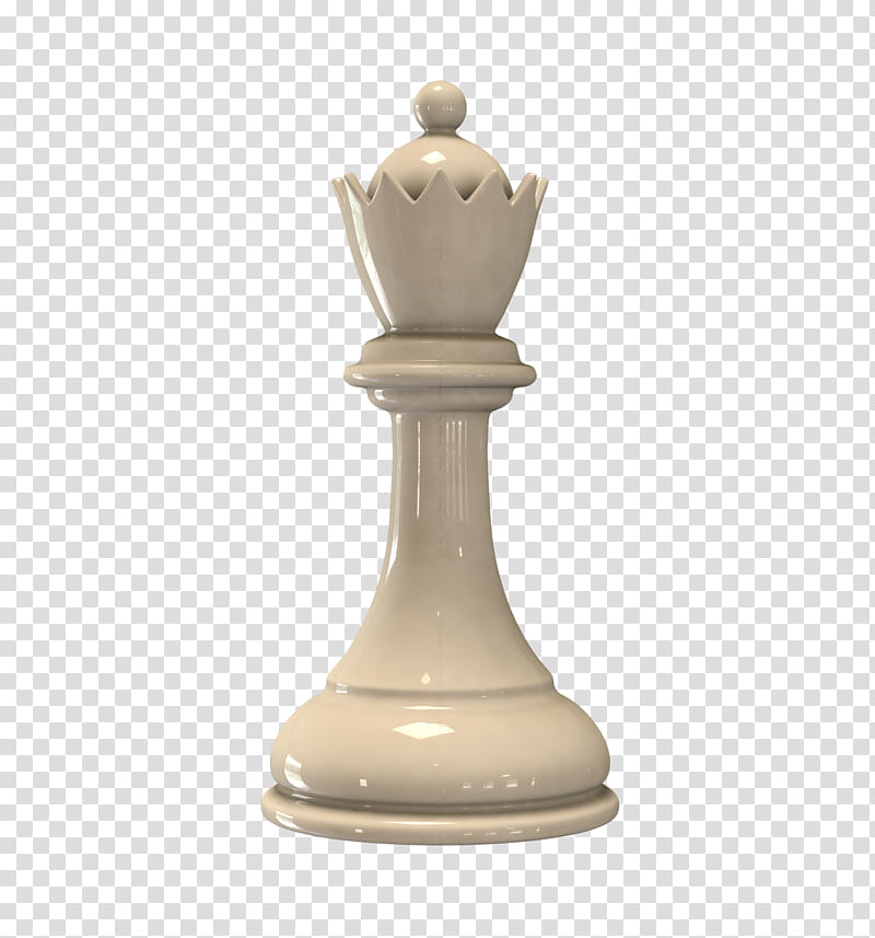 White Queen Chess Piece transparent background PNG clipart.