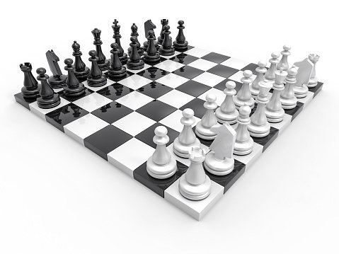 3D Chess Background Clipart Image.