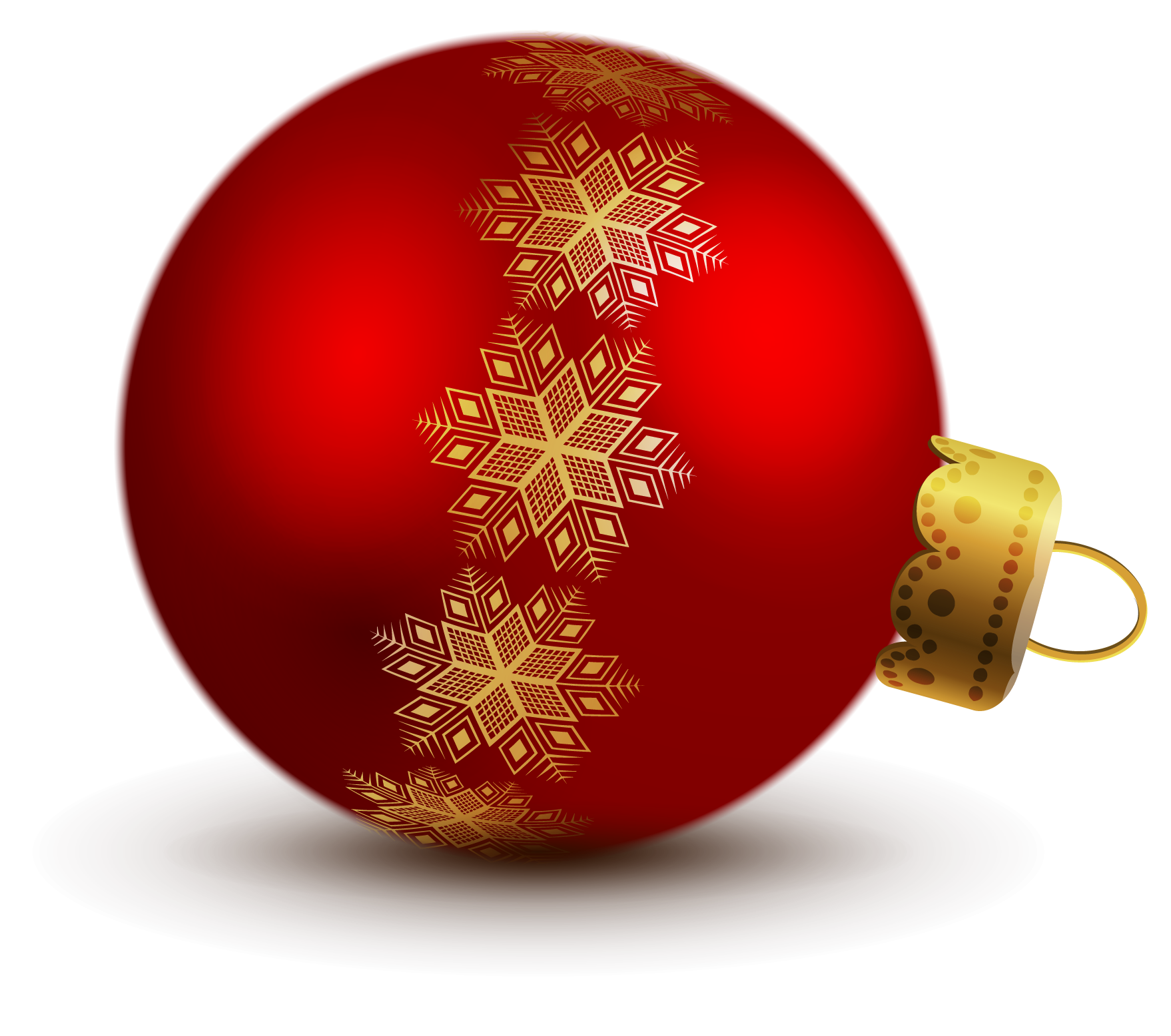 Transparent Red Christmas Ball Ornaments Clipart.