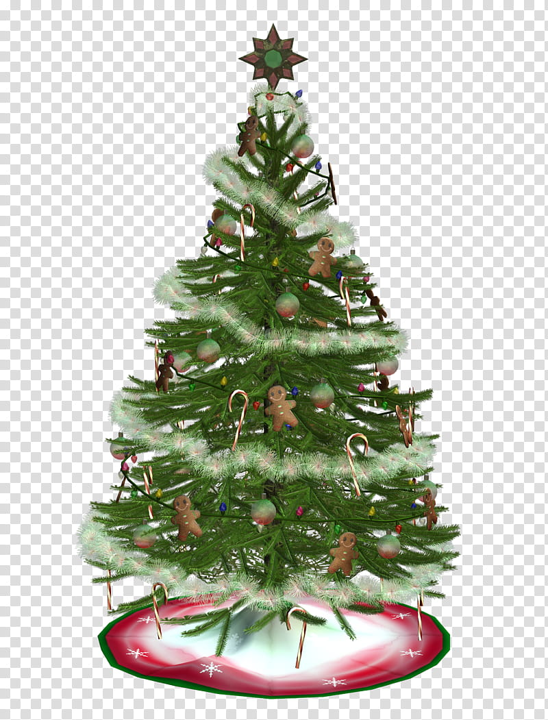 D Xmas Trees, green Christmas tree illustration transparent.