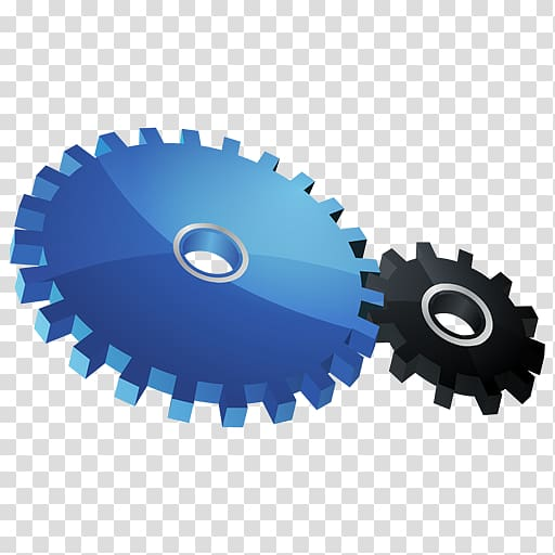 Gears illustration, hardware accessory, HP Control.