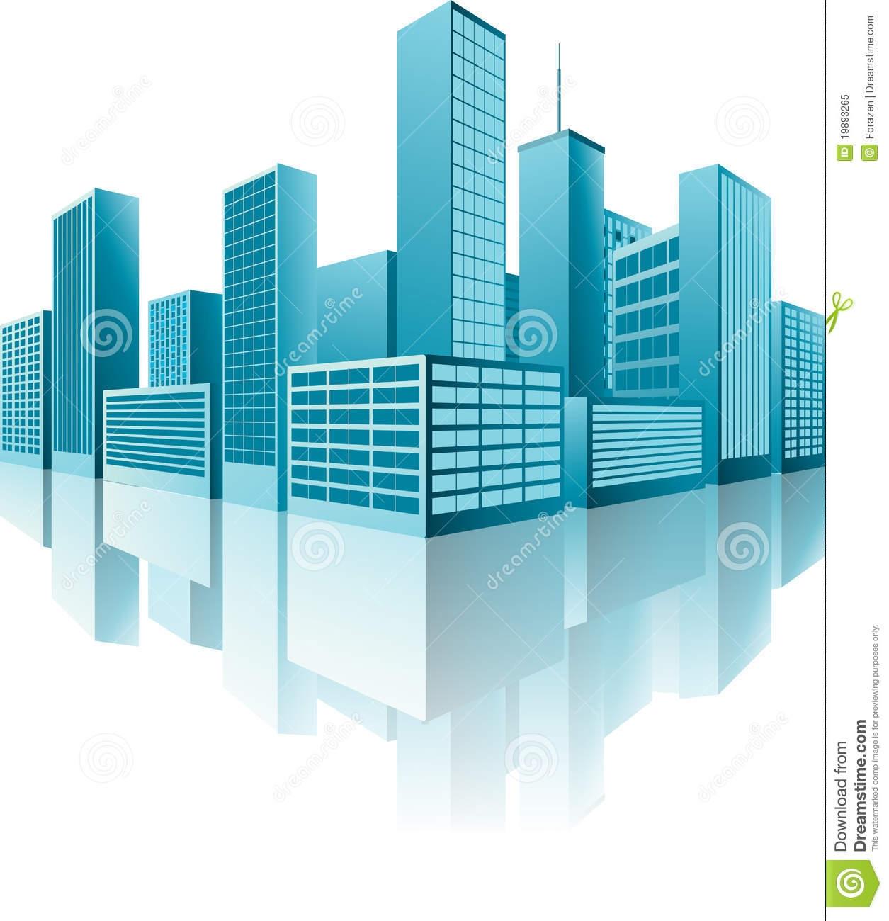 3d Building Logo Clipart.