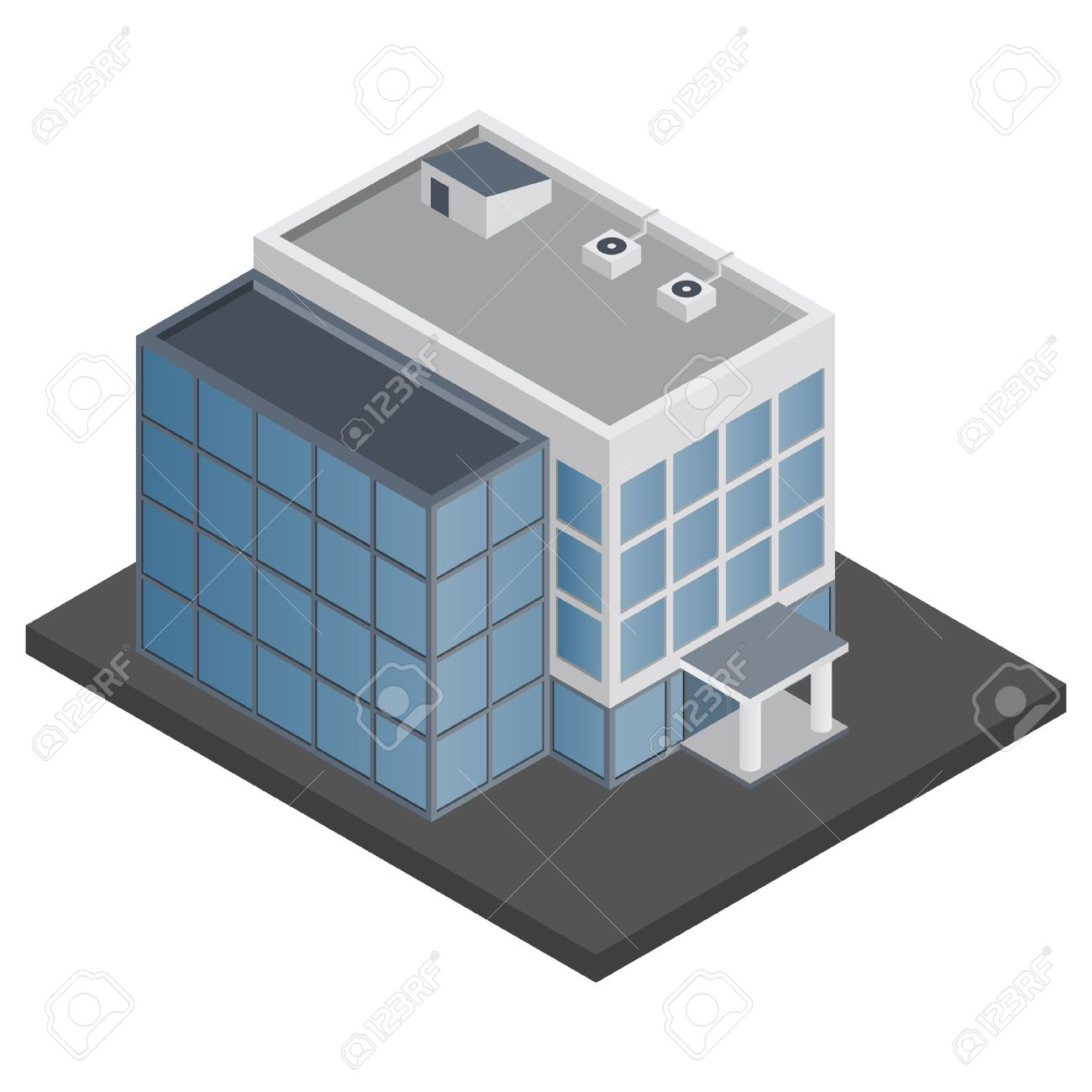 643 Office Building free clipart.