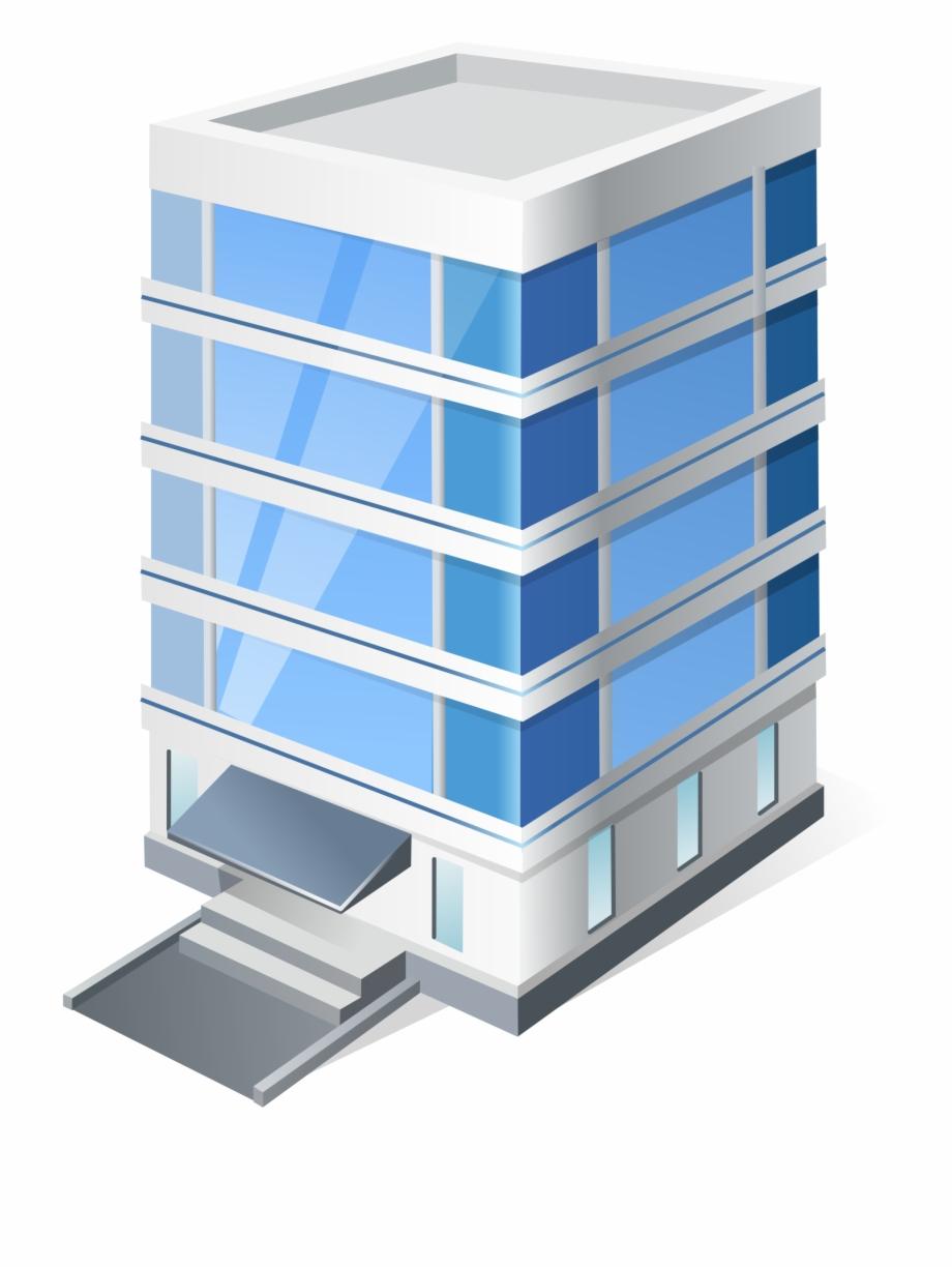 3d Office Building Clipart Pn.