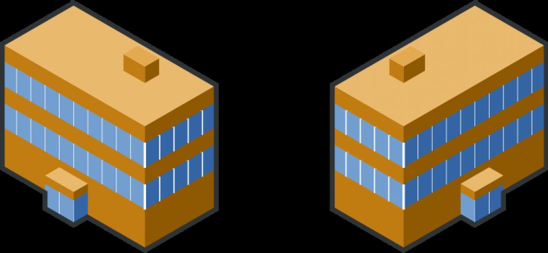 Vector Clip Art Of Brown Buildings.