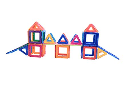 Amazon.com: Tiaotiaobaby 40 PCS Magnetic Tiles Set,STEM.