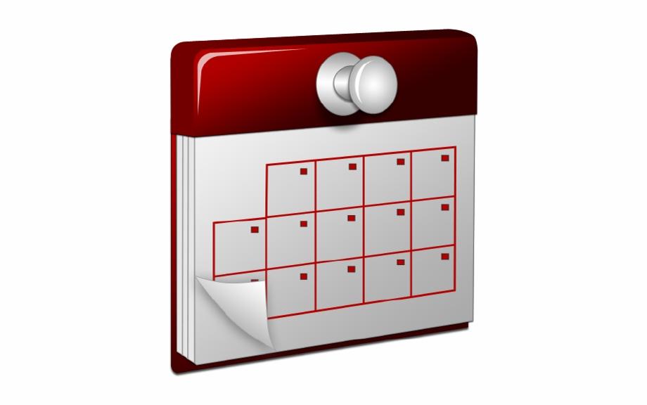 Calendar Transparent 3D Calendar Icon.