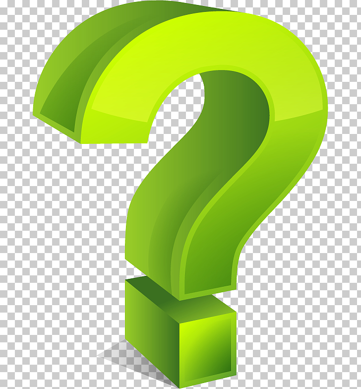 Question mark , Question mark , green 3D question mark.