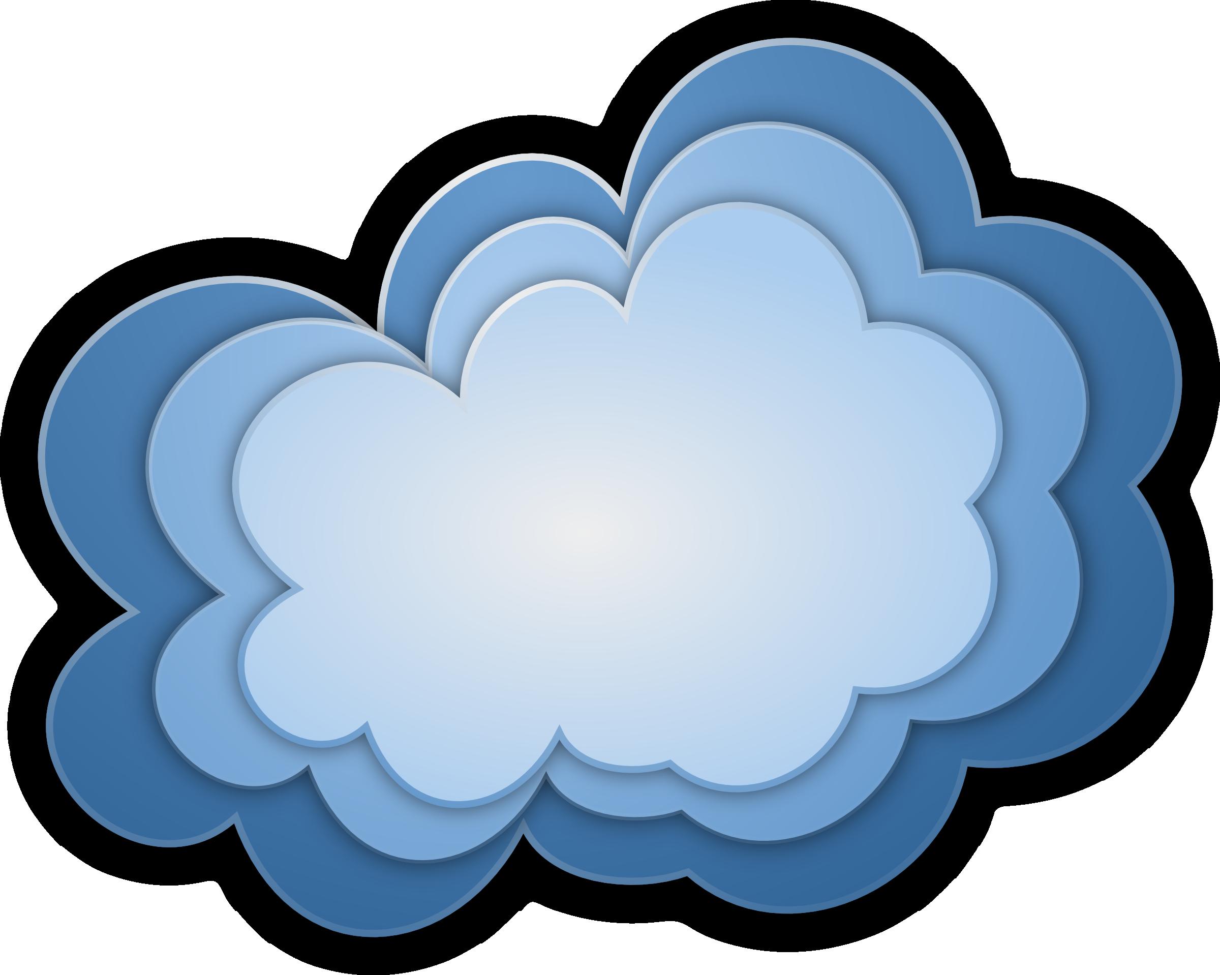 3d cloud clipart free.