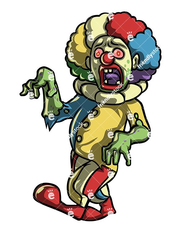 Creepy Scary Clown Zombie in 2019.