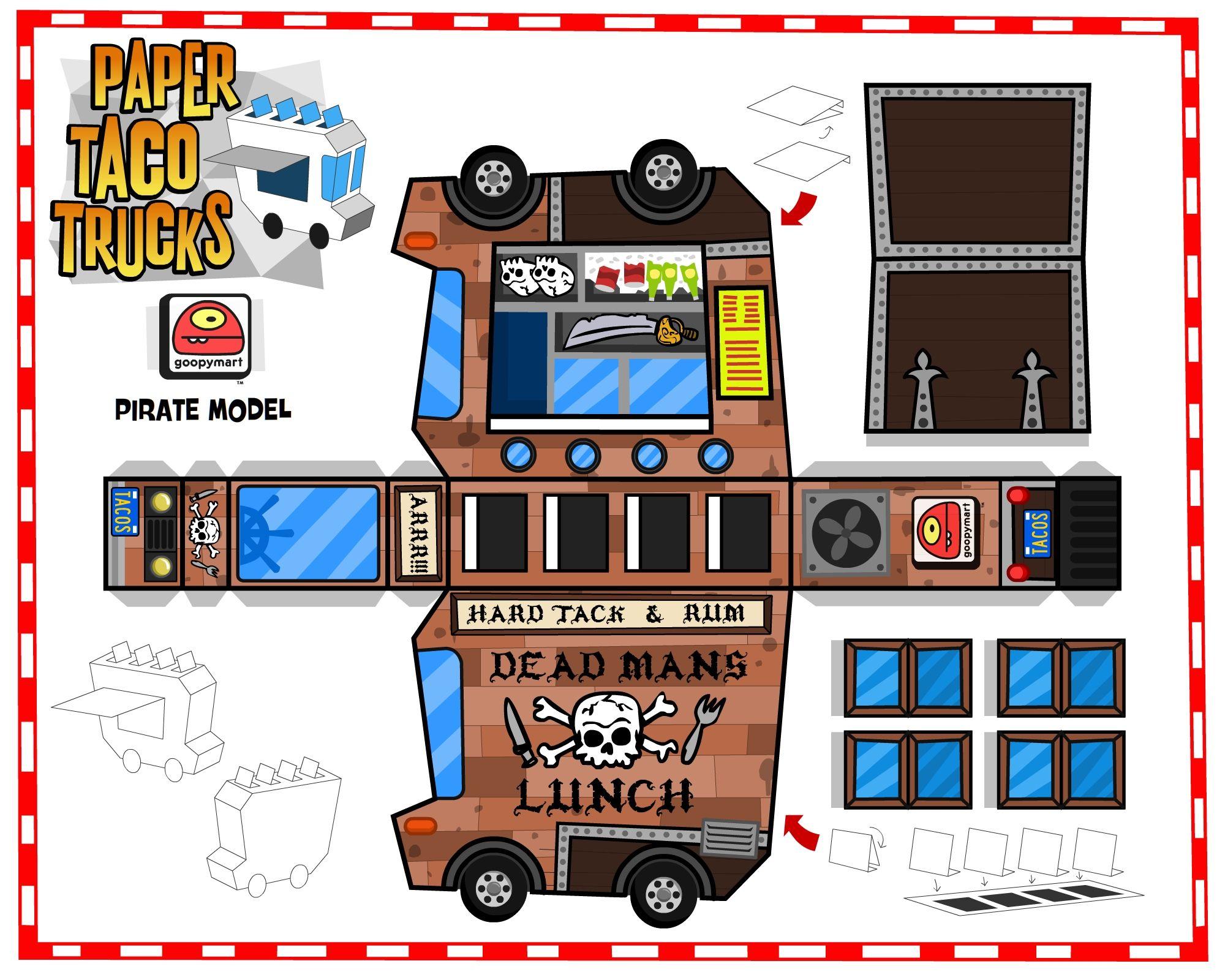 Paper Taco Trucks.