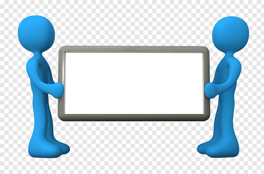 Two person holding whiteboard illustration, Microsoft.