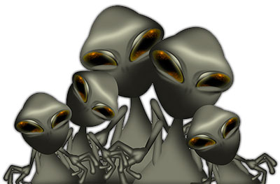 Free Space Alien Animations.