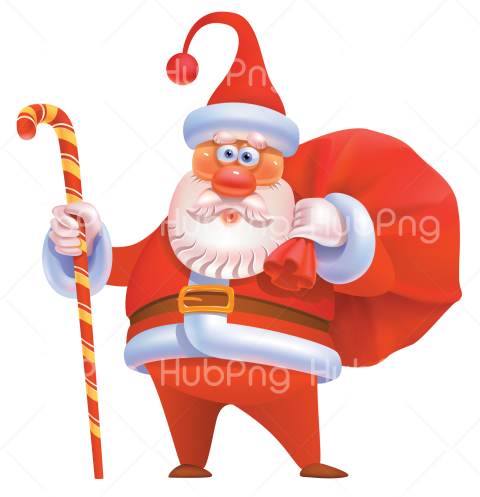santa hat png hd cartoon claus clipart 3d Transparent.