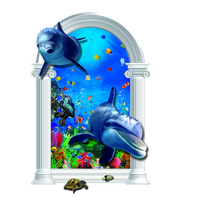 Download Striped Dolphin Common Backdrop 3D Free Clipart HD.