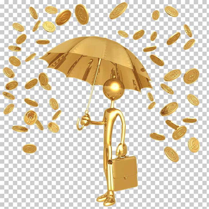 Gold coin Rain, HD 3D Golden villain and money PNG clipart.