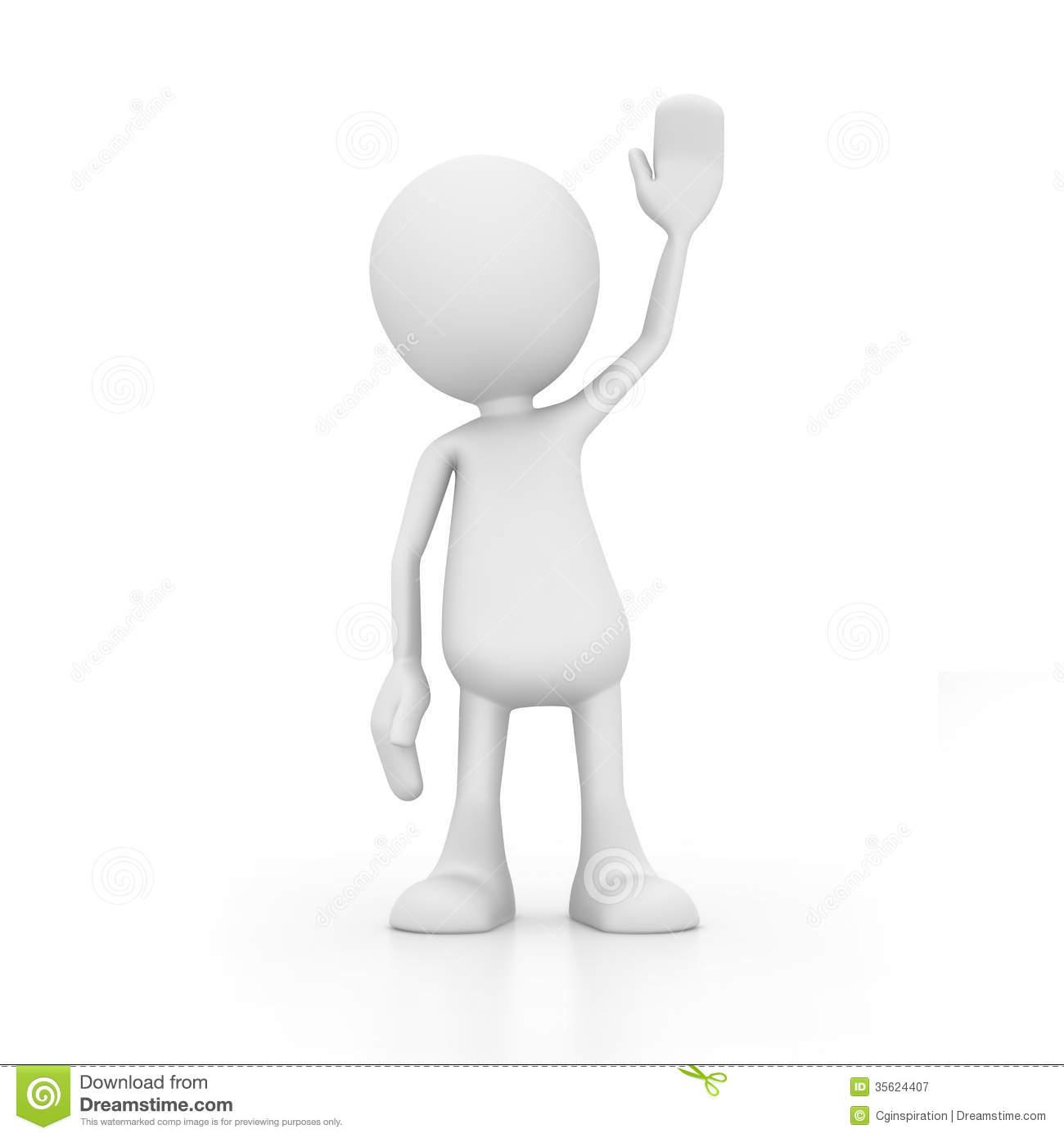 Hello stock illustration. Illustration of render, waving.