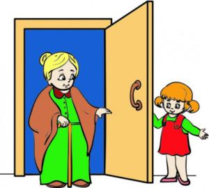 Man Opening Door Clipart.