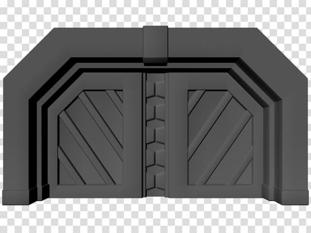 Door Art Sprite 3D modeling, sci fi transparent background.