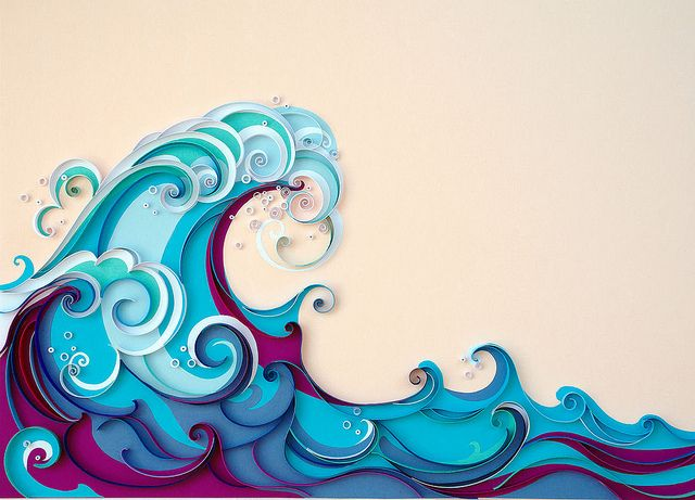 Quilled Waves.