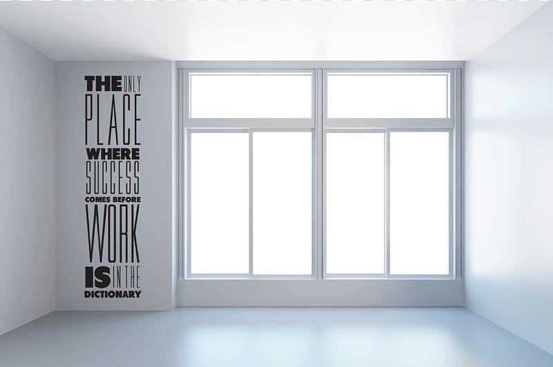 White framed glass window, Window Room Wall 3D rendering.