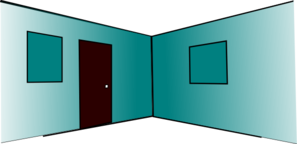 3d Room Interior (2 Walls, 2 Windows, Door Clip Art at Clker.