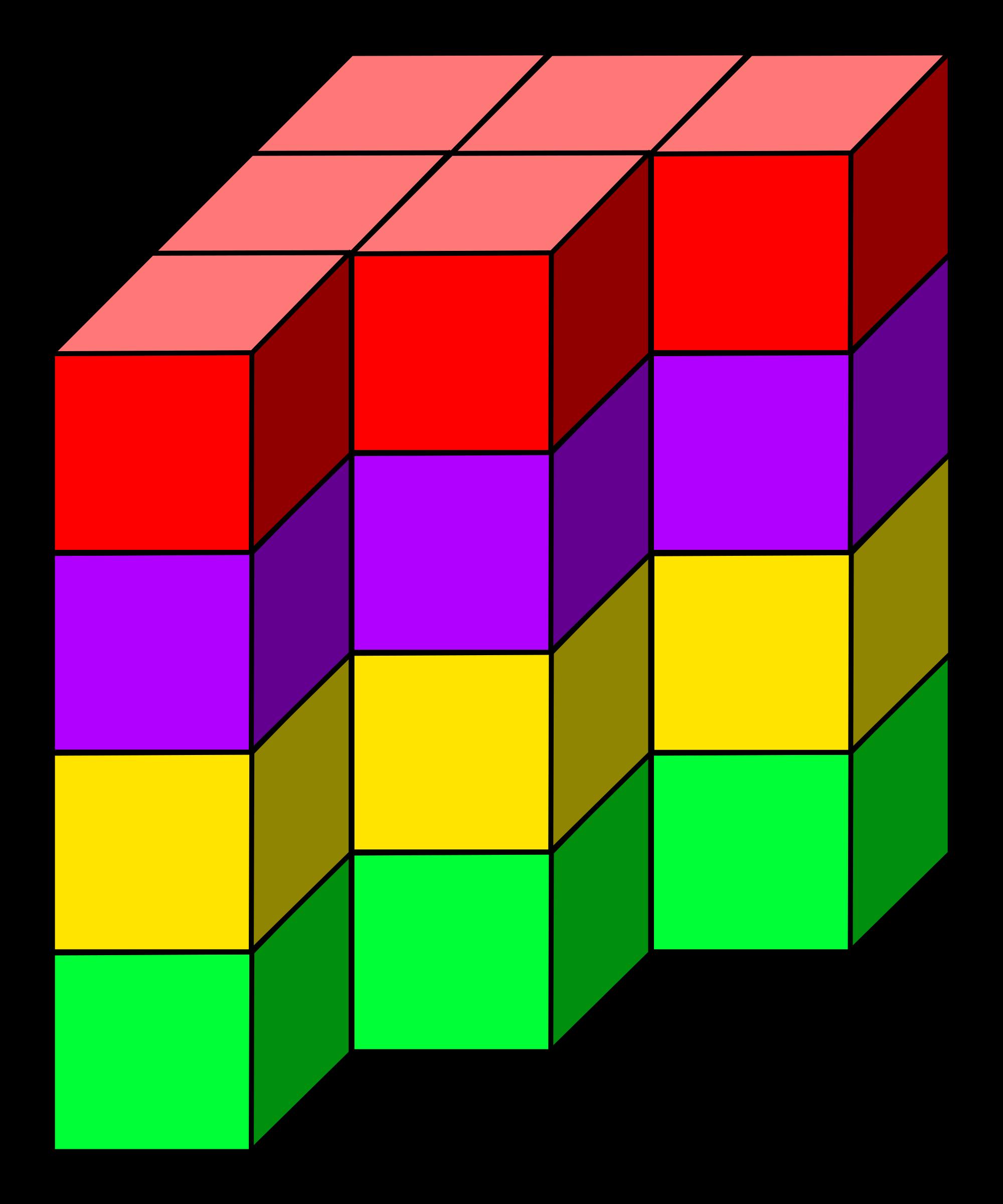 Cube clipart 3d rectangle, Cube 3d rectangle Transparent.
