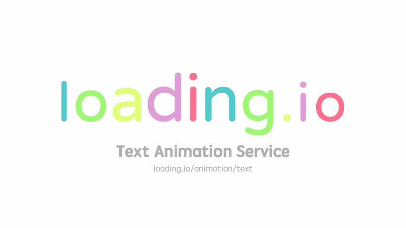 Animate Your Text into GIF / SVG / APNG · loading.io.