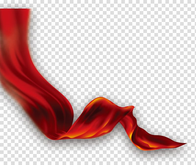 Red 3D wave illustration, Red Computer , Ribbon transparent.