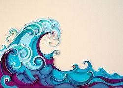 3D paper The Great Wave Off Kanagawa.