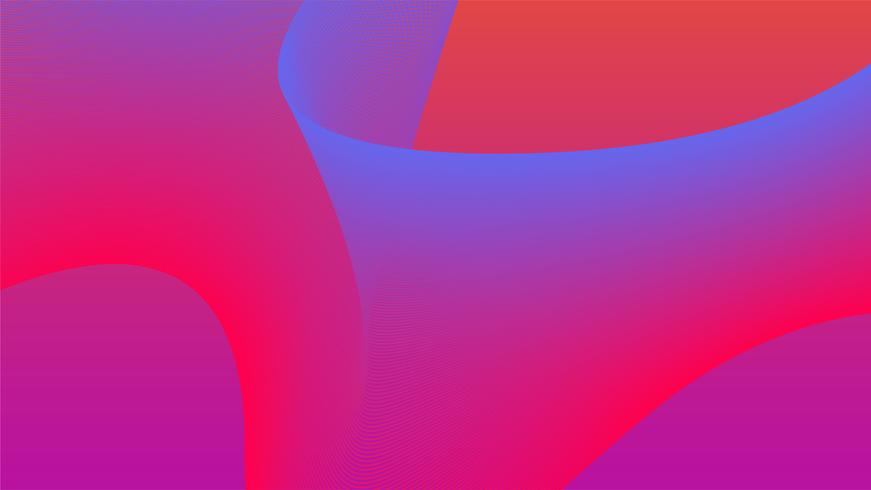 Colorful vibrant 3d wave graphic.