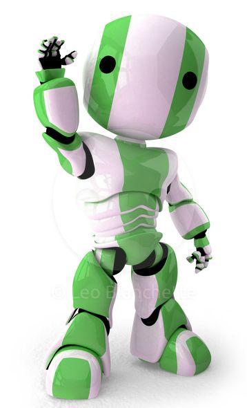 3d Robot Waving.