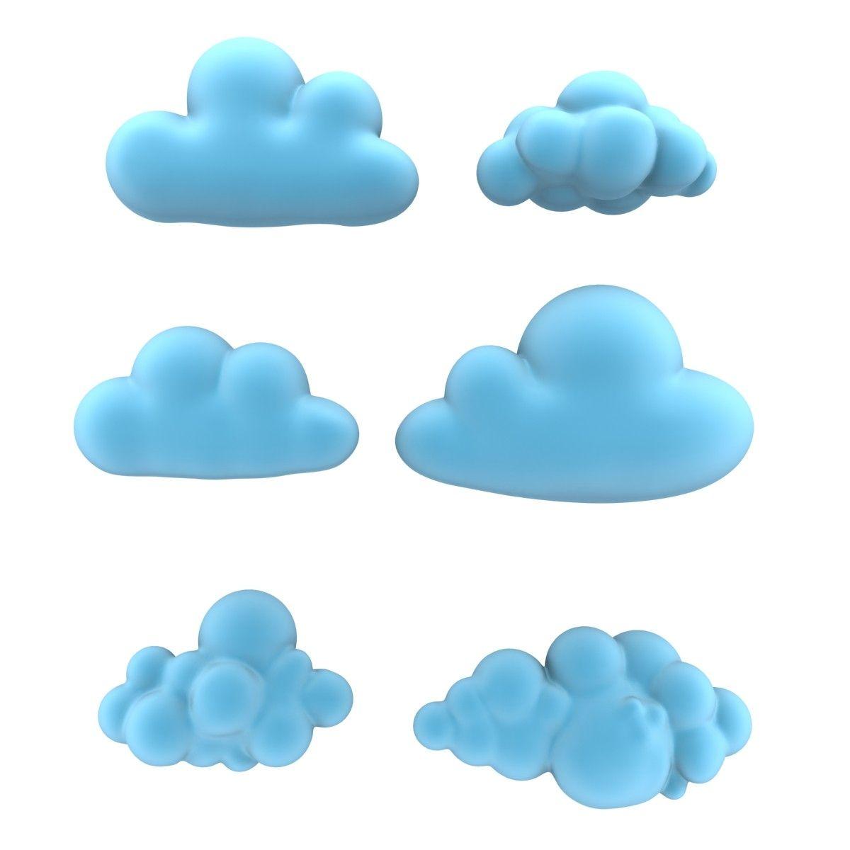 x cartoon clouds.
