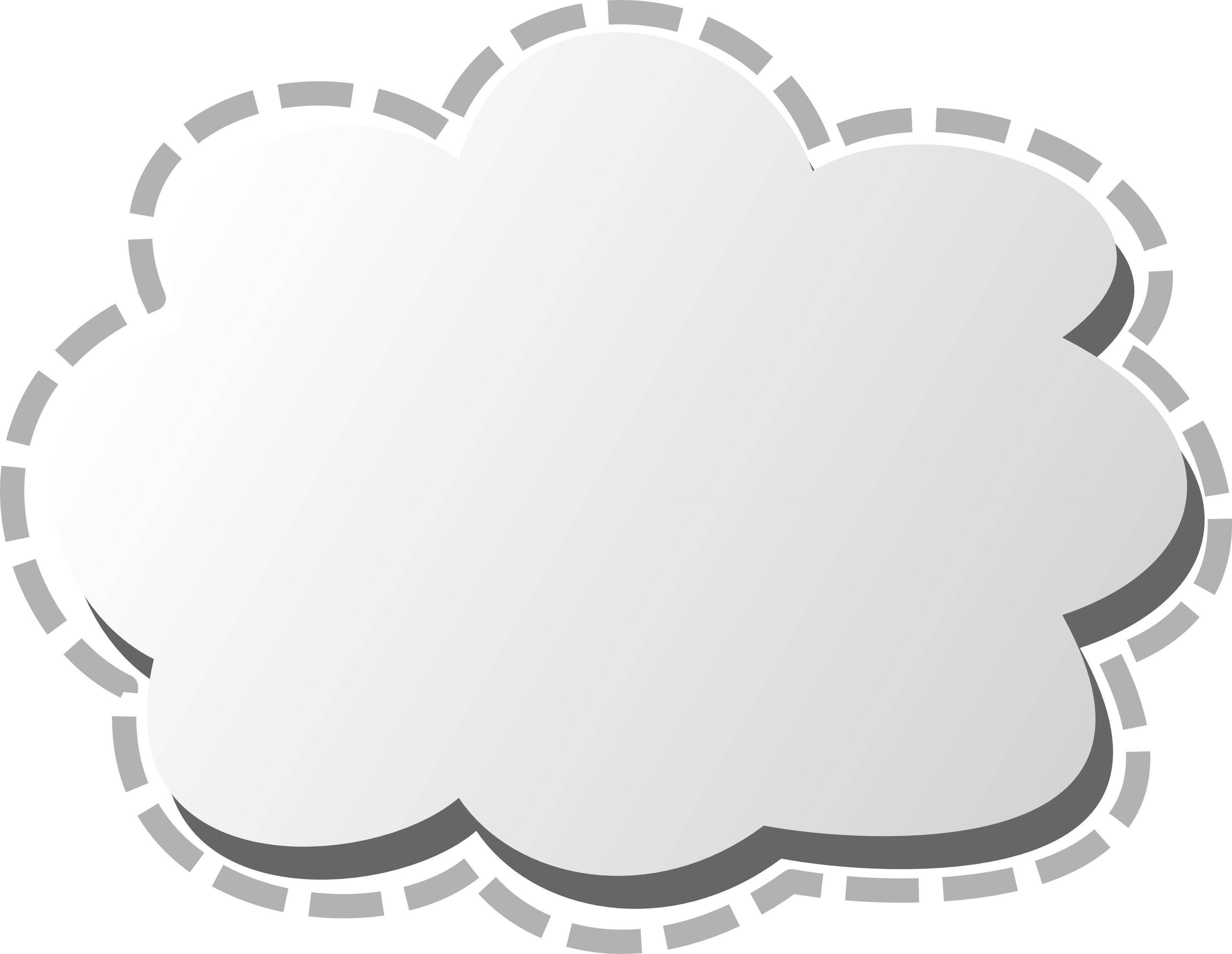 3d cloud clip art image.