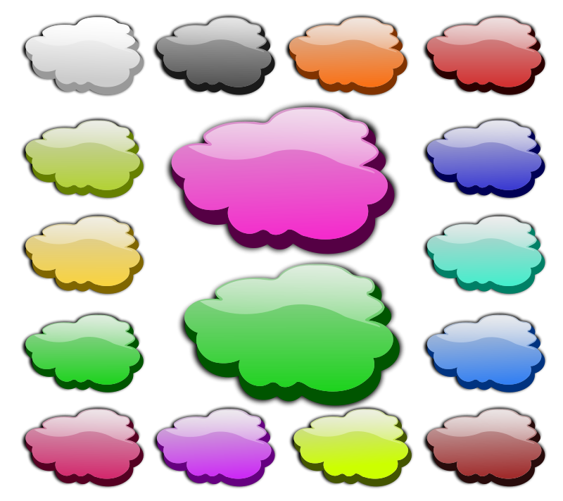 Free Clipart: 3D Clouds.