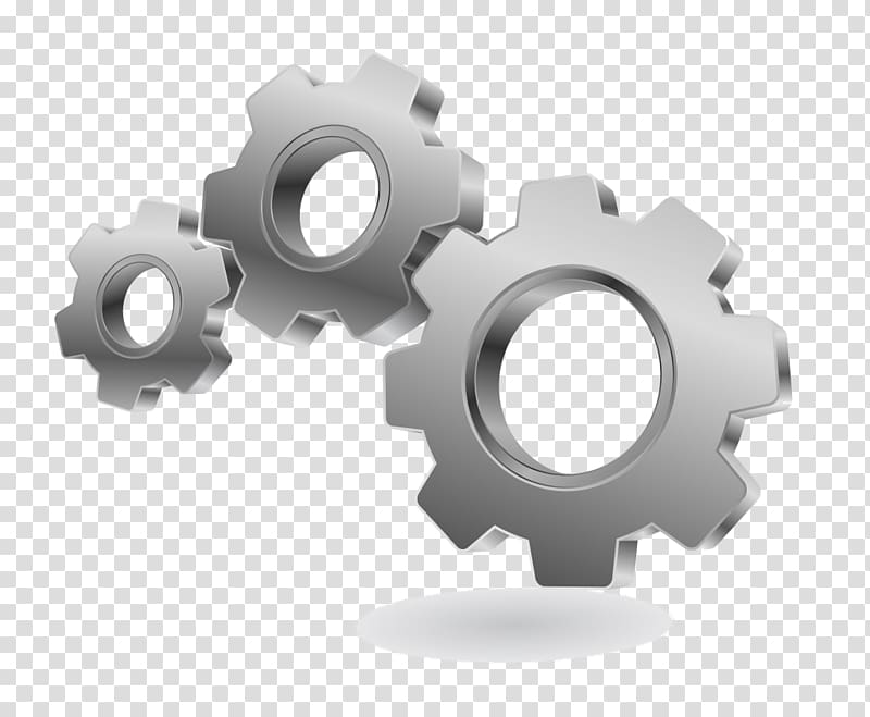 Gear Logo graphics Mural, cogs icon transparent background.