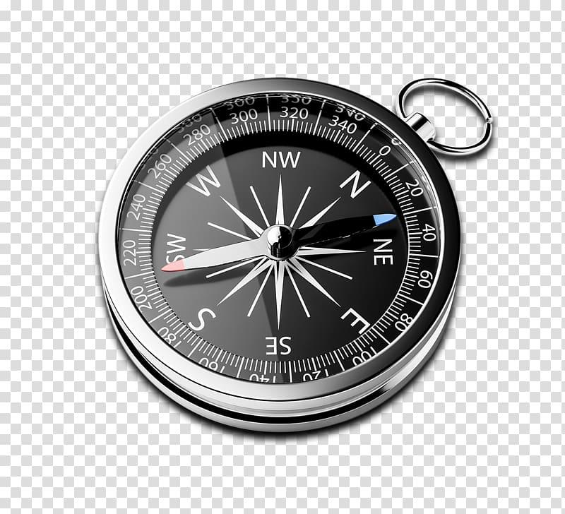 D rendering Illustration Navigation, compass transparent.