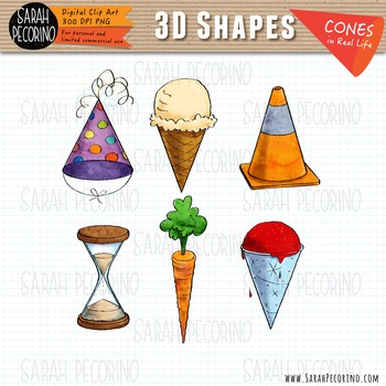 3D Cones in Real Life Clip Art.