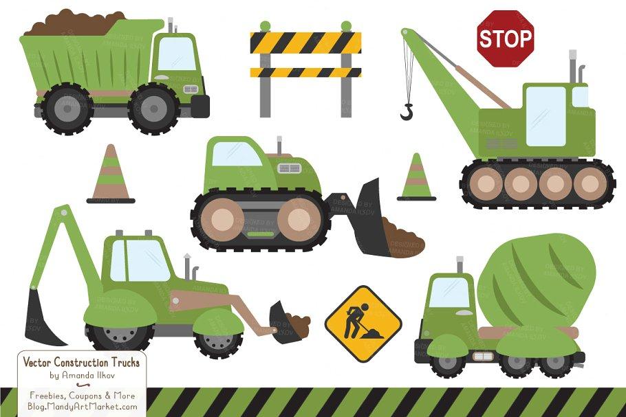 3d construction truck clipart #7