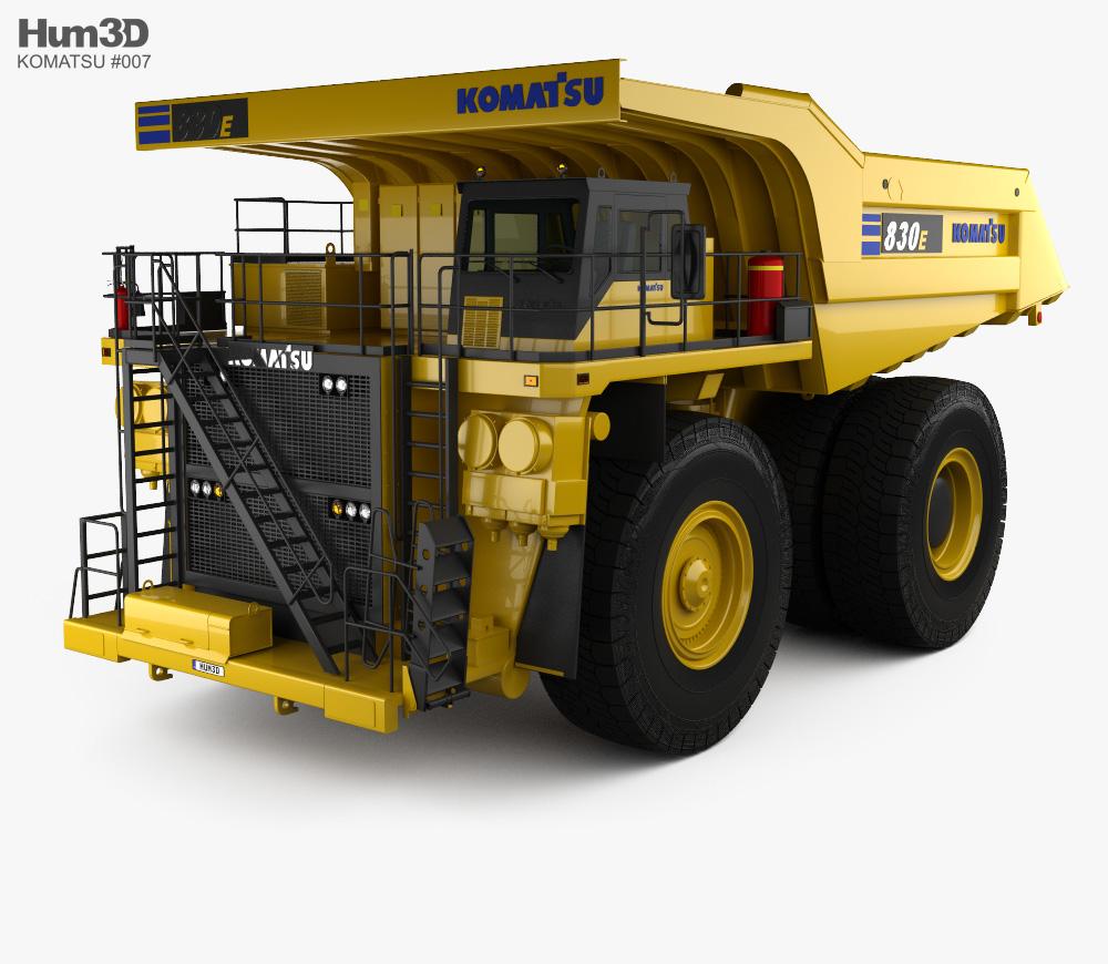 Komatsu 830E Dump Truck 2019 3D model.