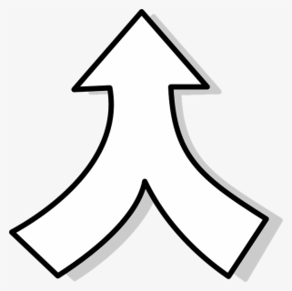 Free Arrows Black And White Clip Art with No Background.