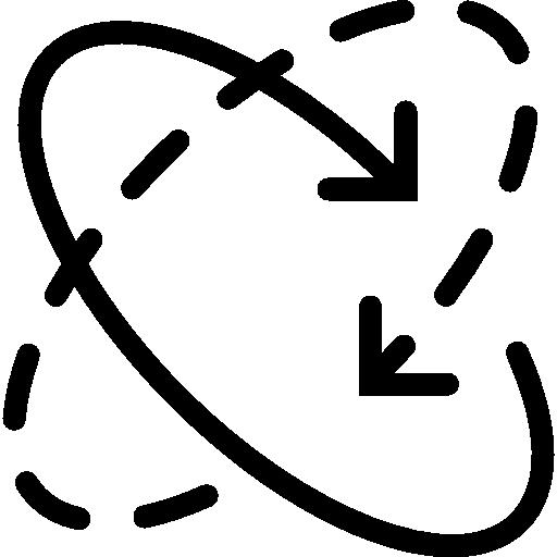 Circular converging arrows Icons.