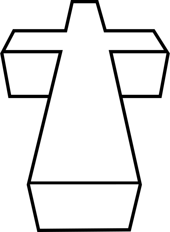Free Clipart: 3D cross.