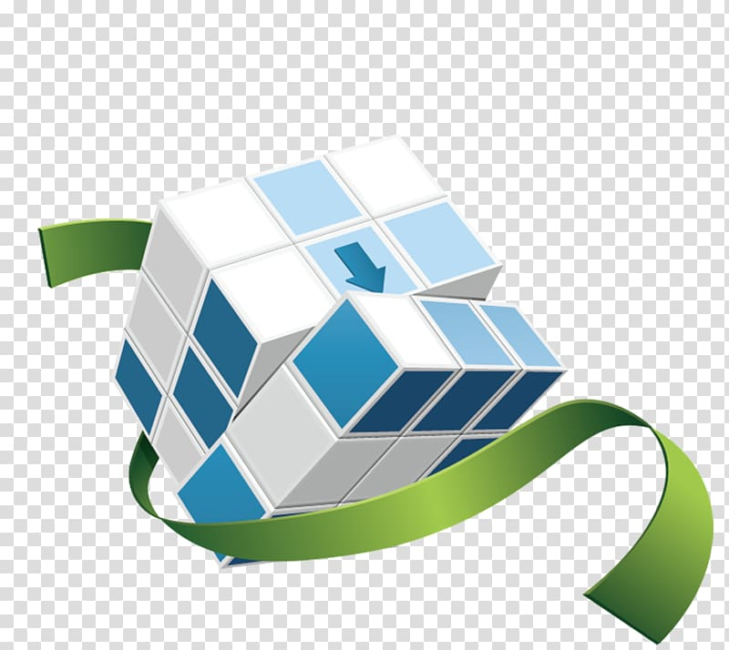 Rubiks Cube Icon, Creative 3D Cube Figure transparent.