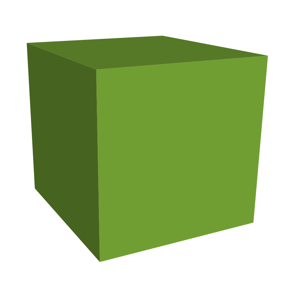 Green Cube 3d Download Png Clipart #47034.