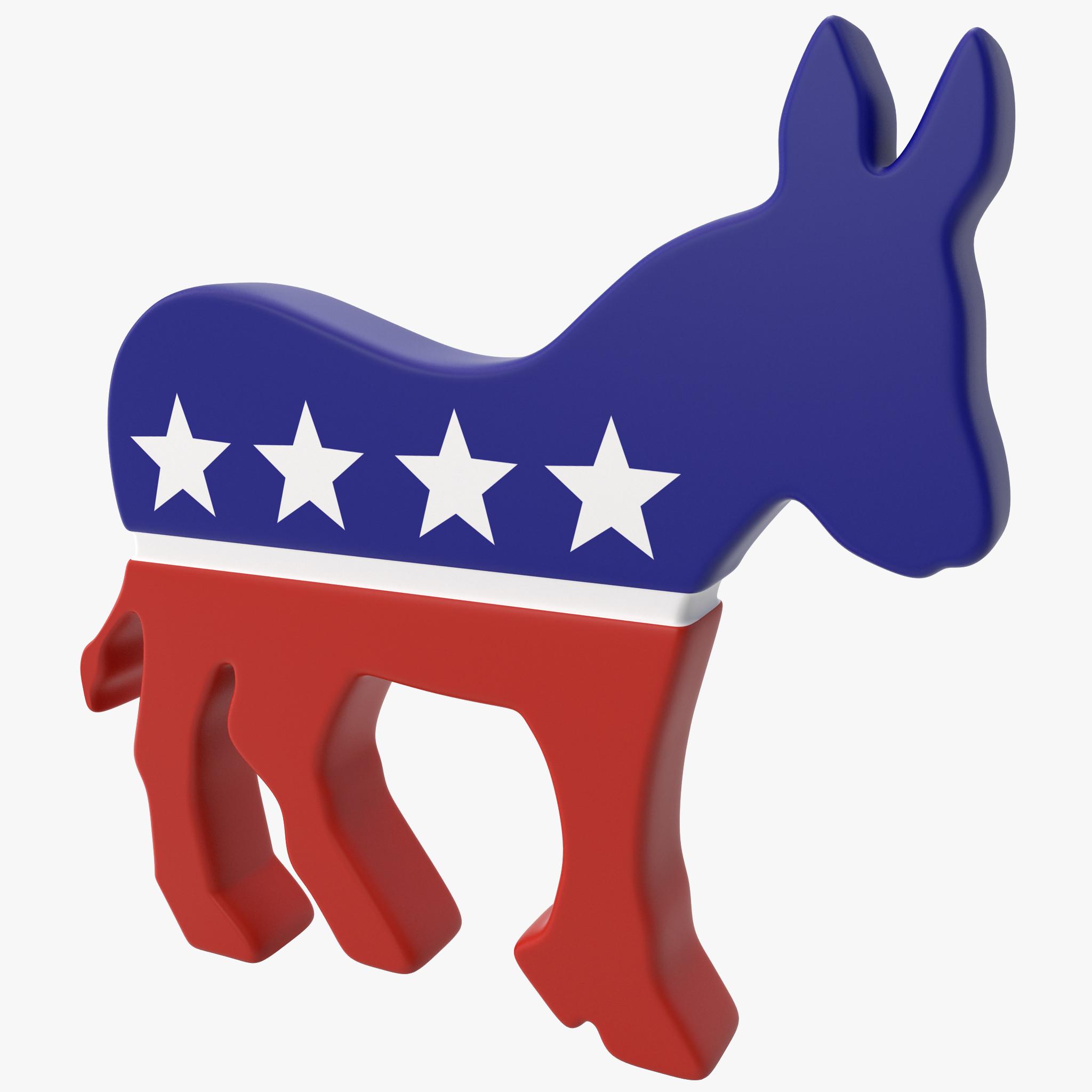 democratic donkey symbol 3d max.
