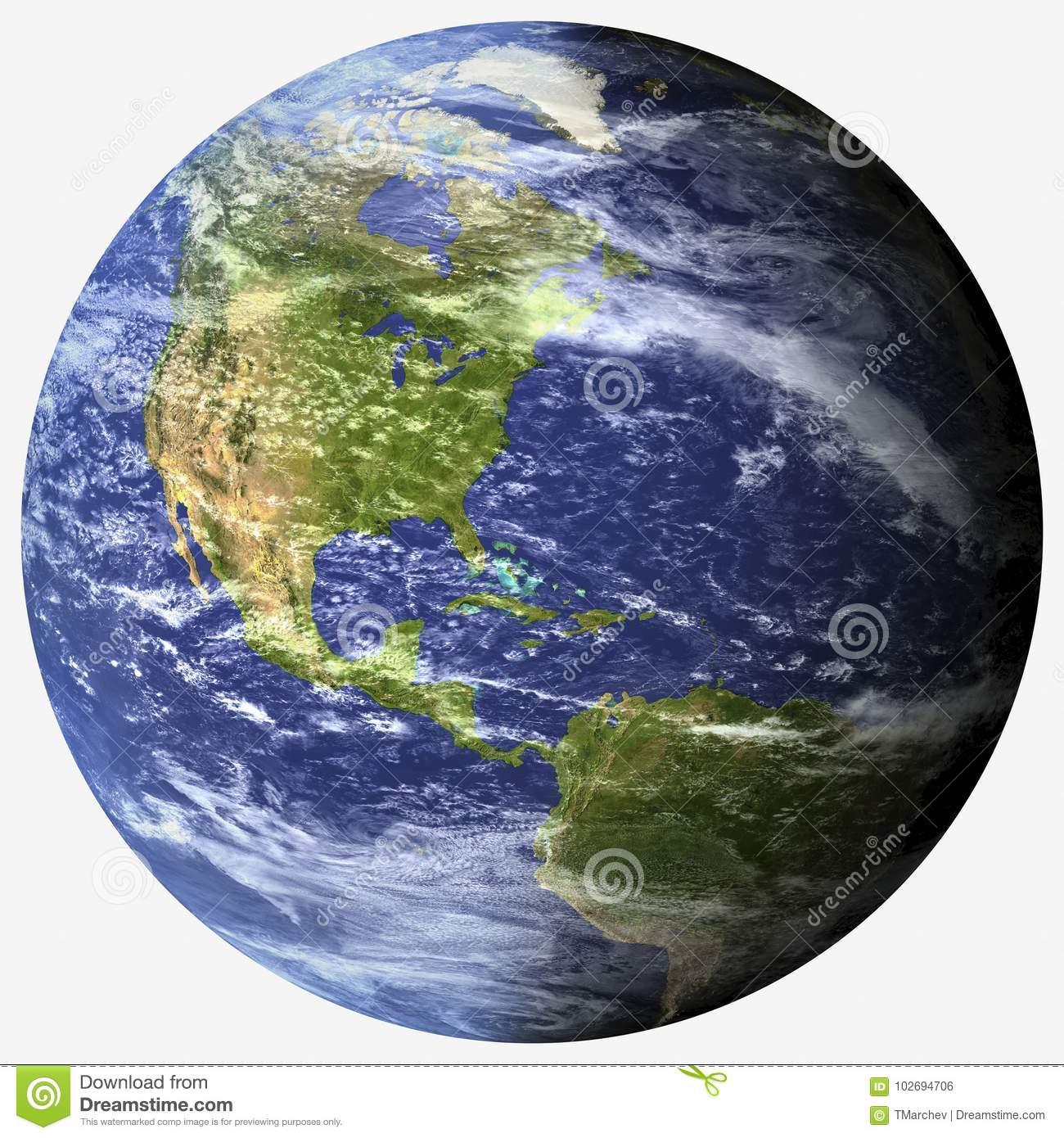 Photorealistic Planet Earth.
