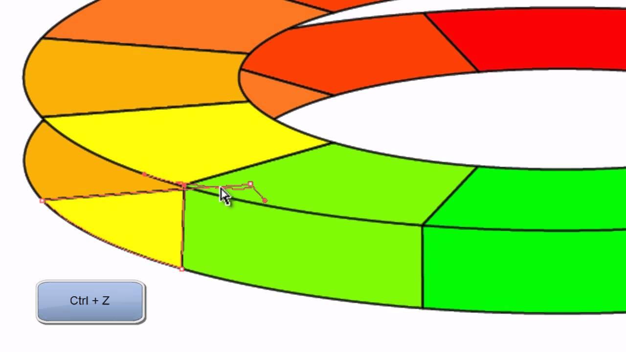 Hur man gör en 3D effekt i en cirkel i Illustrator.