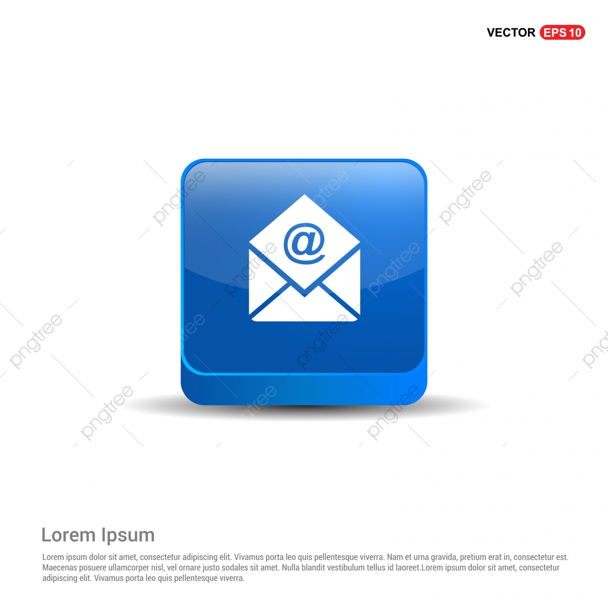 Email Icon 3d Blue Button, Background, Business, Color PNG and.